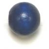 Wooden Bead Round 12mm Blue